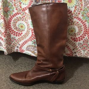 Vintage Brown Leather Boots, ~7